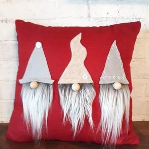 A Home For A Gnome Holiday - A Home For A Gnome Pillows